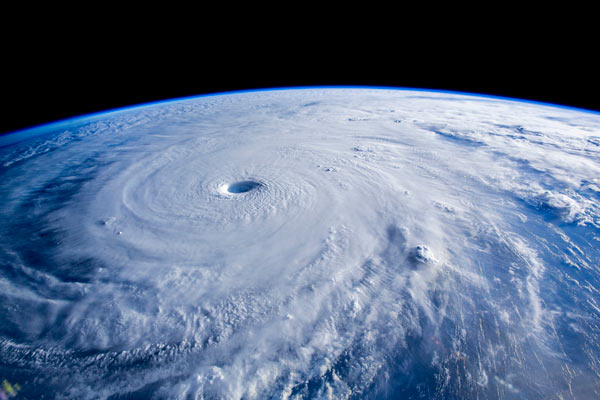 """""""Scene from the IMAX® film A Beautiful Planet – The 25-mile wide eye of Typhoon Maysak as seen from the International Space Station (ISS) in A Beautiful Planet. © 2016 IMAX Corporation Photo courtesy of NASA From IMAX Entertainment and director Toni Myers and narrated by Jennifer Lawrence, A Beautiful Planet is a stunning glimpse of Earth from space, bringing a heightened awareness of our planet—and the effects of humanity over time—as never seen before. Exclusive IMAX® 2D and 3D engagements begin April 29, 2016."""" © 2016 IMAX Corporation"""