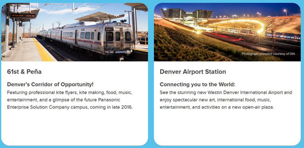 The new train line, University of Colorado A Line, which opened on April 22, 2016, provides easy, affordable and reliable connections between downtown Denver, Denver International Airport, and the many communities along I-70. Photos Courtesy of Denver International Airport
