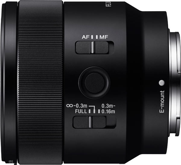 Sony FE 50mm F2.8 Macro lens offers a 6.3 inch / 0.16m minimum focusing distance