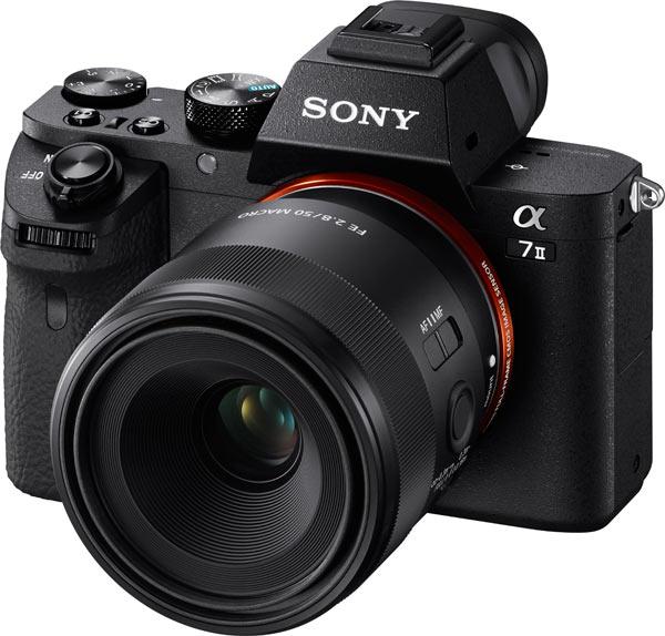 Sony a7 II camera with FE 50mm F2.8 Macro Lens