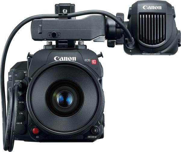 Canon EOS C700 CN E35 (CN-E35mm T1.5 L F lens) and OLED 1920×1080 Electronic View Finder EVF-V70