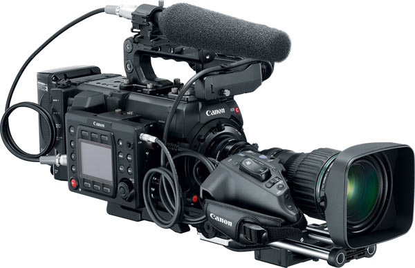 Canon EOS C700 with HJ24EX7 5B IASE lens, Remote Operation Unit OU-700, and Shoulder Style Grip Unit SG-1