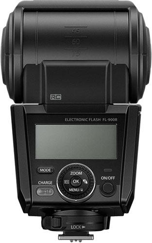 Olympus Flash FL-900R, back view