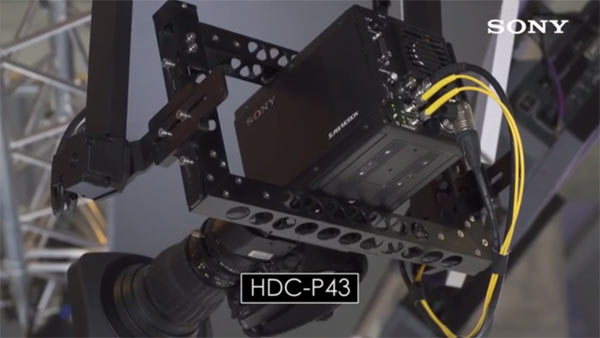 Sony HDC-P43 4K, back view: Image grab from video above