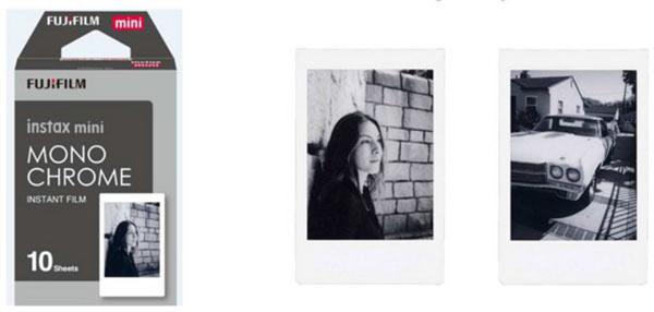 instax mini film Monochrome: Images Courtesy of Fujifilm