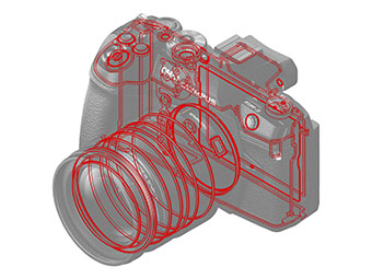 Olympus® OM-D E-M1 Mark II (Under Development): Sealing image