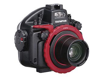 Olympus Underwater Case, PT-EP14 + Macro Lens Port, PPO-EP03