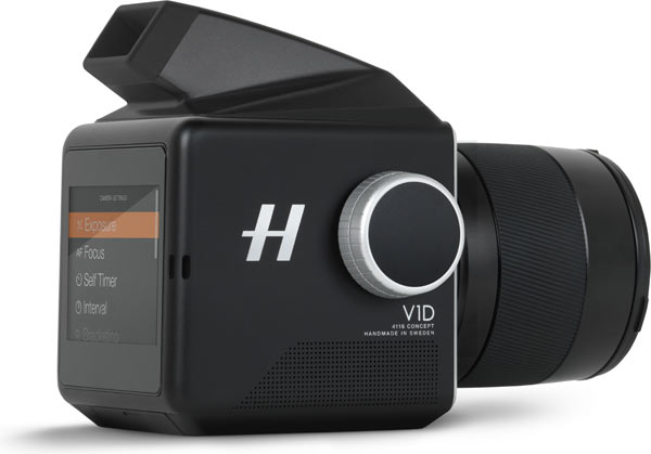 Hasselblad V1D 4116 with viewfinder: back and side view