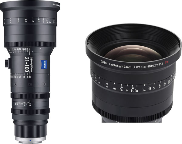 """""""The ZEISS LWZ.3 21-100mm/T2.9-3.9 T* stands out for its high imaging performance and light weight of around 2 kg."""""""