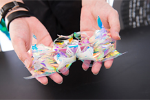 Yuima Nakazato's colored folded creations