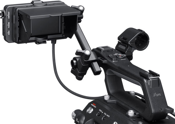 Sony FS7 II: Pop up LCD monitor hood