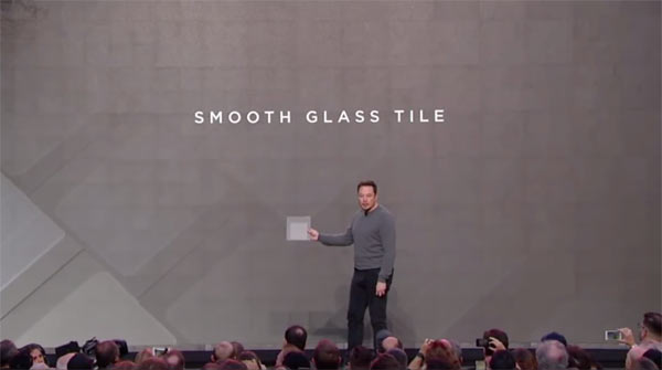 Elon Musk unveils Solar Roof (2016.10.28): Image grab from video above