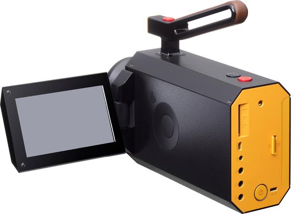 Kodak Super 8 Cine camera with digital viewfinder, midnight black color