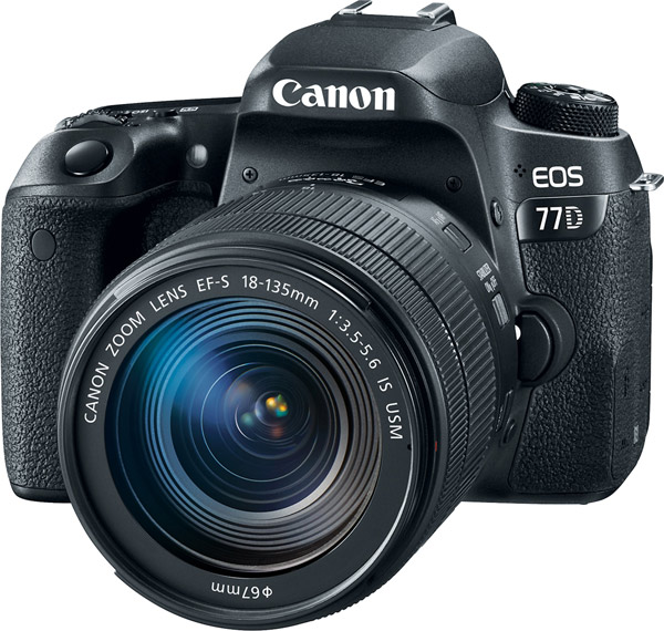 Canon EOS 77D with EF-S 18-135mm f/3.5-5.6 IS USM lens