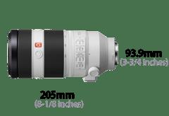 Sony FE 100-400mm F4.5–5.6 GM OSS: dimensions