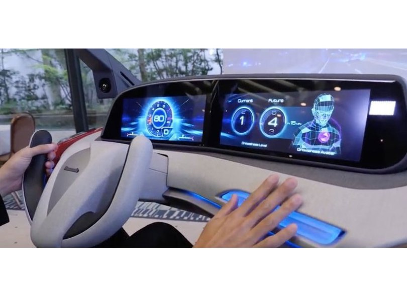 Panasonic's drowsiness-control technology helps drivers stay comfortably awake on the road. Image Courtesy of Panasonic