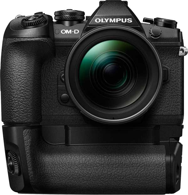 Olympus OM-D E-M1 Mark II with optional Power Battery Holder
