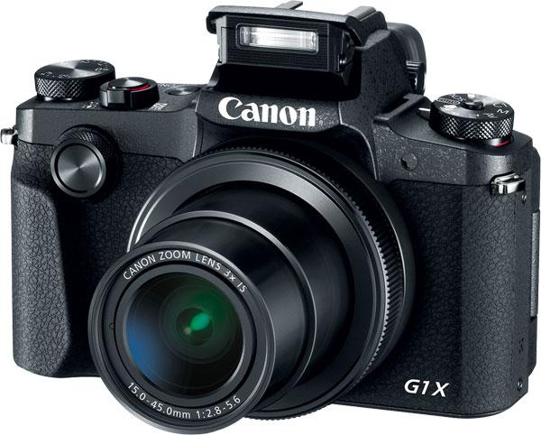 Canon G1 X Mark III (pop-up flash)