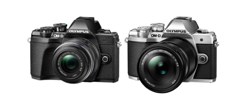 Olympus OM-D E-M10 Mark III: Black (left) and Silver (right)