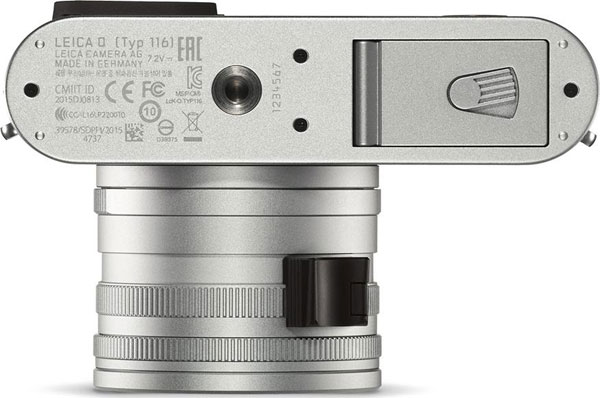 Leica Q Silver, bottom view