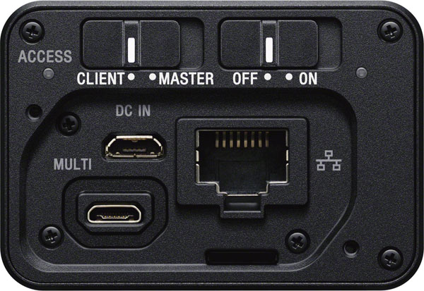 Sony CCB-WD1 terminal: back view