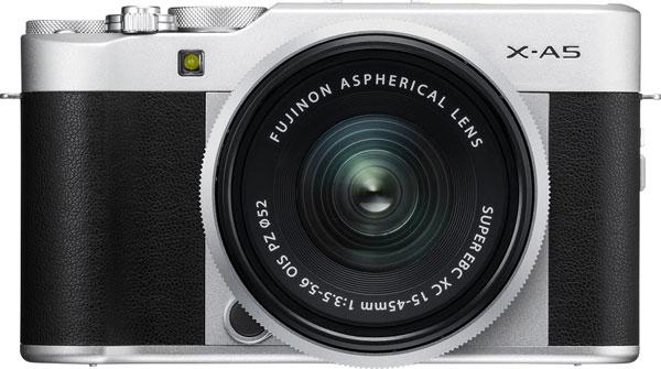 FUJIFILM X-A5, silver, with FUJINON XC15-45mmF3.5-5.6 OIS PZ lens, silver