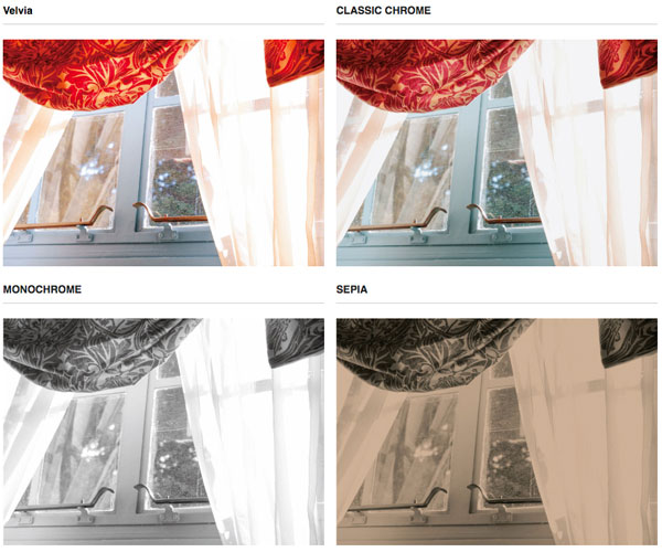 FUJIFILM X-A5: Film Simulation Modes. Images Courtesy of Fujifilm