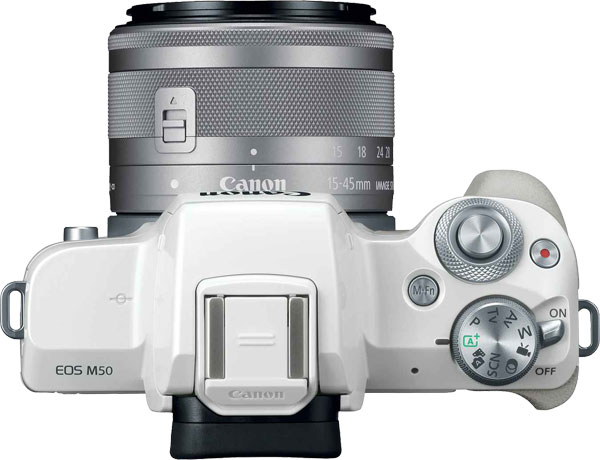Canon EOS M50, white