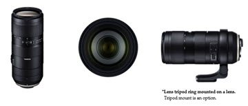 Tamron 70-210mm F/4 Di VC USD (Model A034): Optional tripod mount with Arca Swiss-compatible quick-release plate (right)