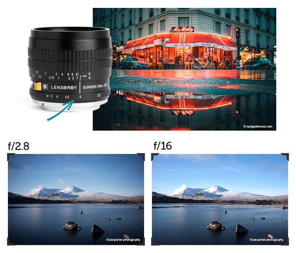 Lensbaby Burnside 35: Get a more traditional image that still has softness or very subtle swirl at the edges