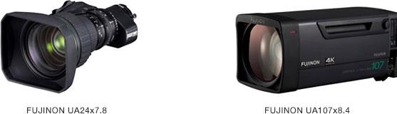 """Fujifilm Broadcast Lenses: """"FUJINON UA24x7.8"""" and the """"FUJINON UA107x8.4"""""""