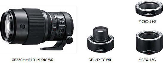 Fujifilm GFX System Expands with the New FUJINON GF250mmF4 R LM OIS WR Lens, FUJINON GF1.4X TC WR Teleconverter and MCEX-18G WR and MCEX-45G WR Macro Extension Tubes
