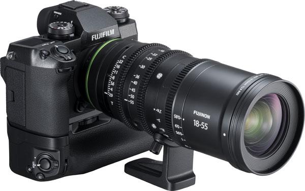 FUJIFILM X-H1 camera with FUJINON MKX18-55mmT2.9 cinema lens