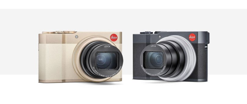 Leica C-Lux (left to right): light gold and midnight blue