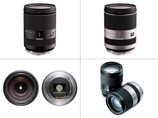 Tamron 18-200mm F/3.5-6.3 Di III VC (Model B011): Color options are black and silver