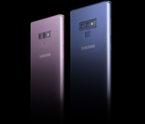 Samsung (left to right): Lavender Purple and Ocean Blue