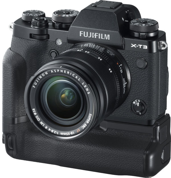 Fujifilm X-T3 with Vertical Battery Grip