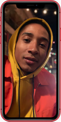 iPhone XR introduces Portrait mode with a single-lens camera with sophisticated bokeh, and Depth Control lets you adjust the depth of field.