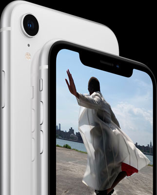 """Apple iPhone XR: Featuring the same 12MP f/1.8 aperture wide-angle lens camera as iPhone XS for """"stunning photos and videos."""""""