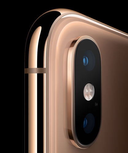 Apple iPhone X<small>S</small> and iPhone X<small>S</small> Max: A breakthrough new 12MP dual camera system with 2x optical zoom and dual optical image stabilization introduce a new era of iPhone photography.