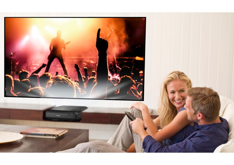 Epson Home Cinema LS-100 Full HD 3LCD Ultra Short-Throw Laser Projector