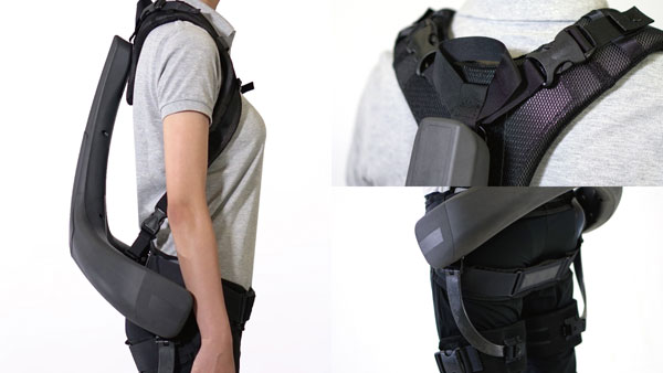 """Panasonic: ATOUN MODEL Y: """"This suit maintains optimal positioning with the wearer, through its minimal frame shape that allows for unhindered movement and its specially designed belts. The suit provides support and maintains breathability, helping the wearer to perform tasks comfortably in various situations."""""""