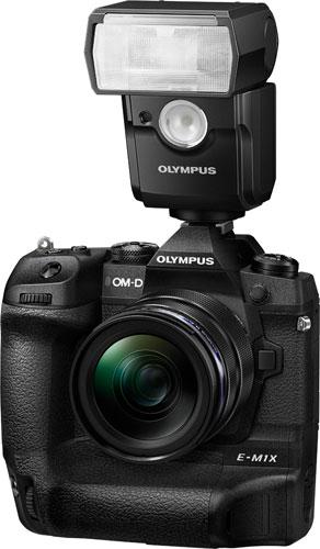 Olympus OM-D E-M1X with FL-700WR Electronic Flash