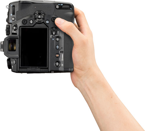 Olympus OM-D E-M1X: Vertical hold