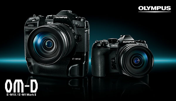 Olympus OM-D E-M1X (left) and OM-D E-M1 Mark II (right)