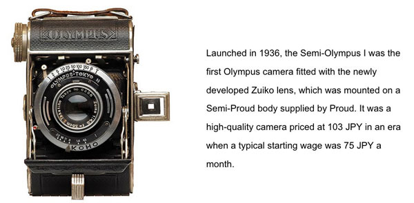 Semi-Olympus I Camera in 1936: Priced at 103 JPY (US $0.9504 at the current exchange rate)