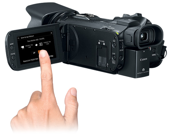 Canon VIXIA HF G50 4K UHD: 3.0-inch capacitive LCD touchscreen