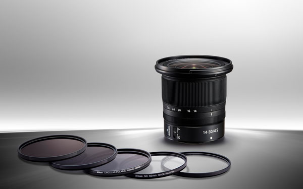 """""""NIKKOR Z 14-30mm f/4 S's front lens element is nearly flat, making it the first filter-attachable 14mm full frame NIKKOR lens: Add an 82mm circular polarizer to dramatically reduce reflections for the purpose of enhancing colours and increasing contrast. Add a neutral-density filter to reduce light intensity and decrease shutter speed—perfect for emphasizing motion blur or for video applications where large apertures need to be used in daylight."""""""