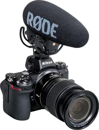 Nikon Z 6 with Nikon NIKKOR Z 24-70mm f/4 S lens and Rode VideoMic Pro+