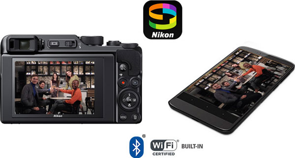 Nikon COOLPIX A1000: Built-in Wi-fi®, and Bluetooth® technology: Images Courtesy of Nikon